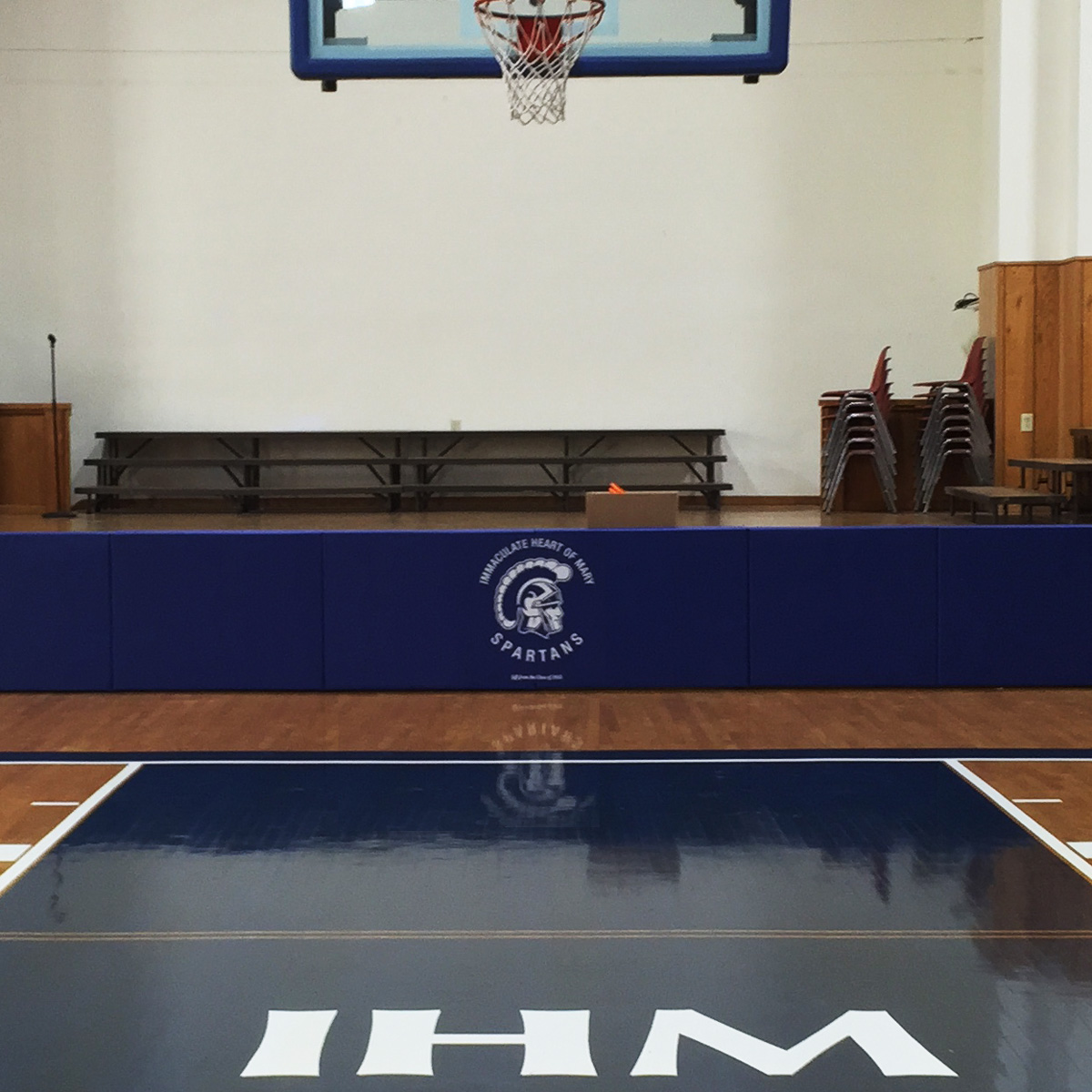 immaculate heart of mary gymnasium fixed stage padding