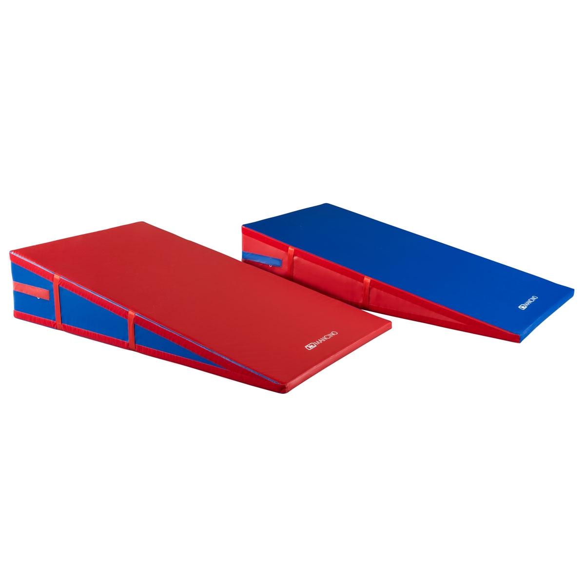 red blue incline cheese wedge mats   mancino mats