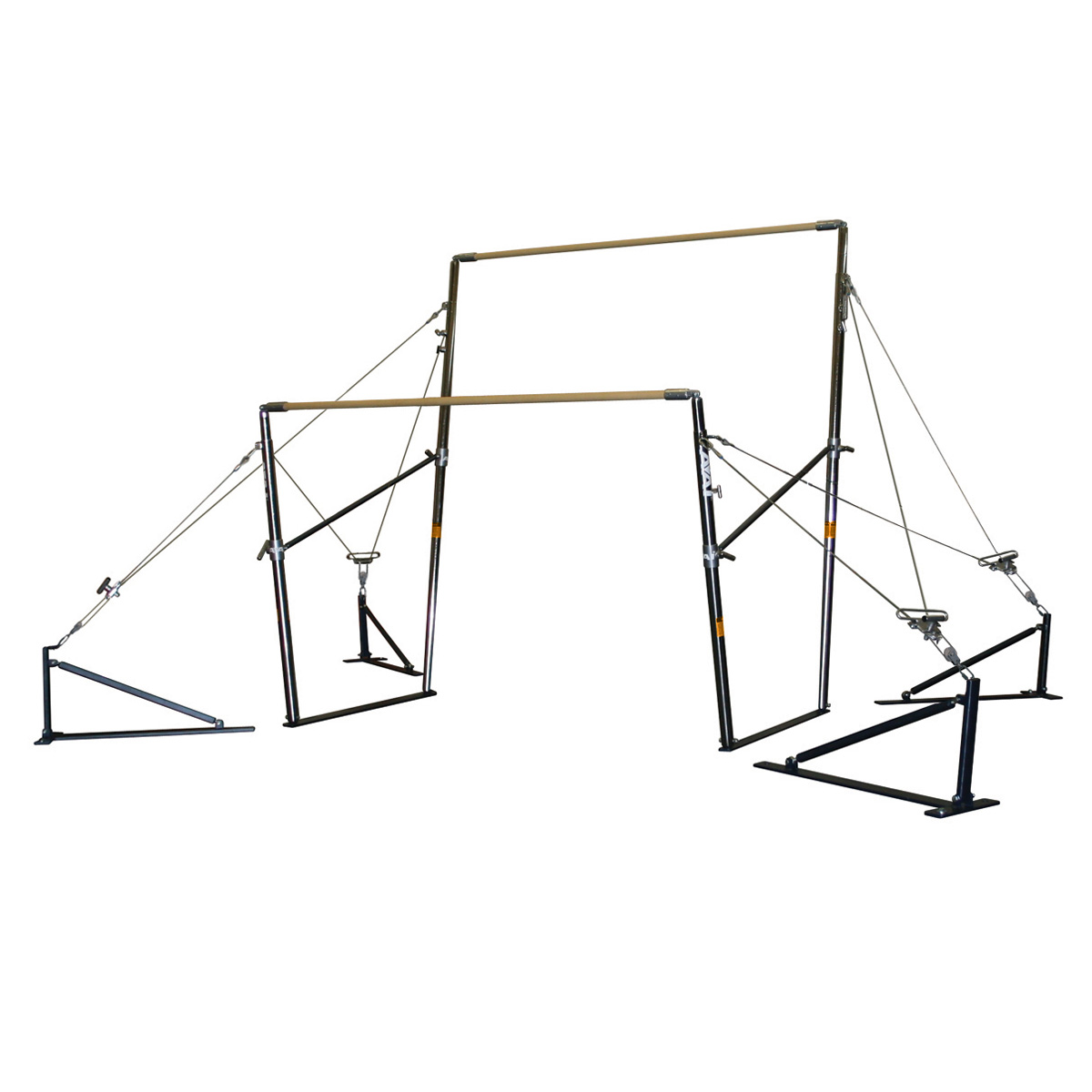aai elite gymnastics uneven bars with srs system - mancino mats