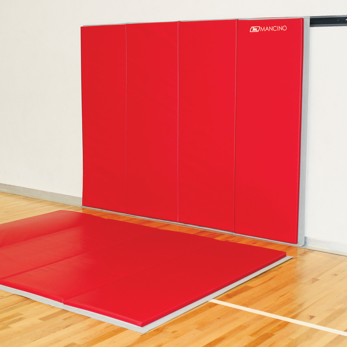 red removable wall padding floor mats
