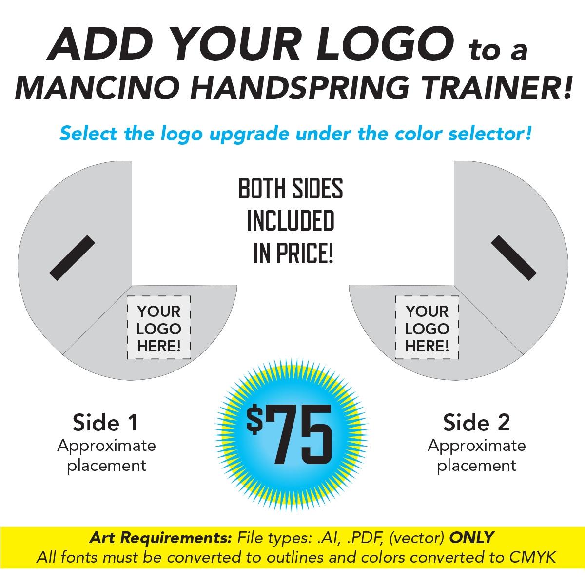 Print your logo on a mancino handspring trainer mat - back handspring machine