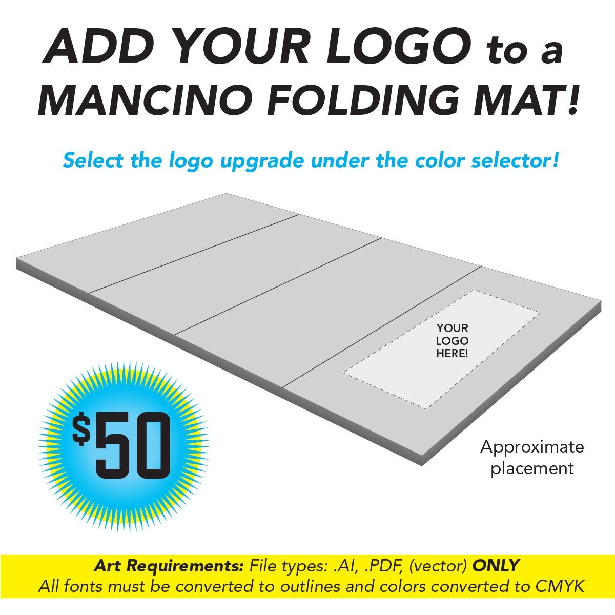 promote your cheerleading gym with mancino branding options - mancino mats