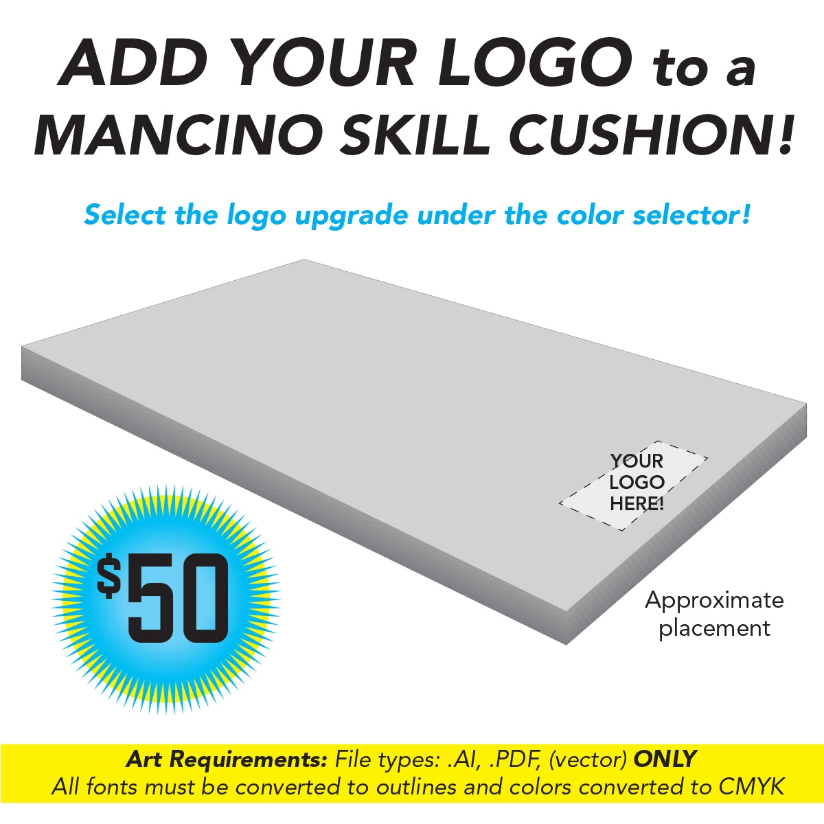 add your logo to a cheer gym mat