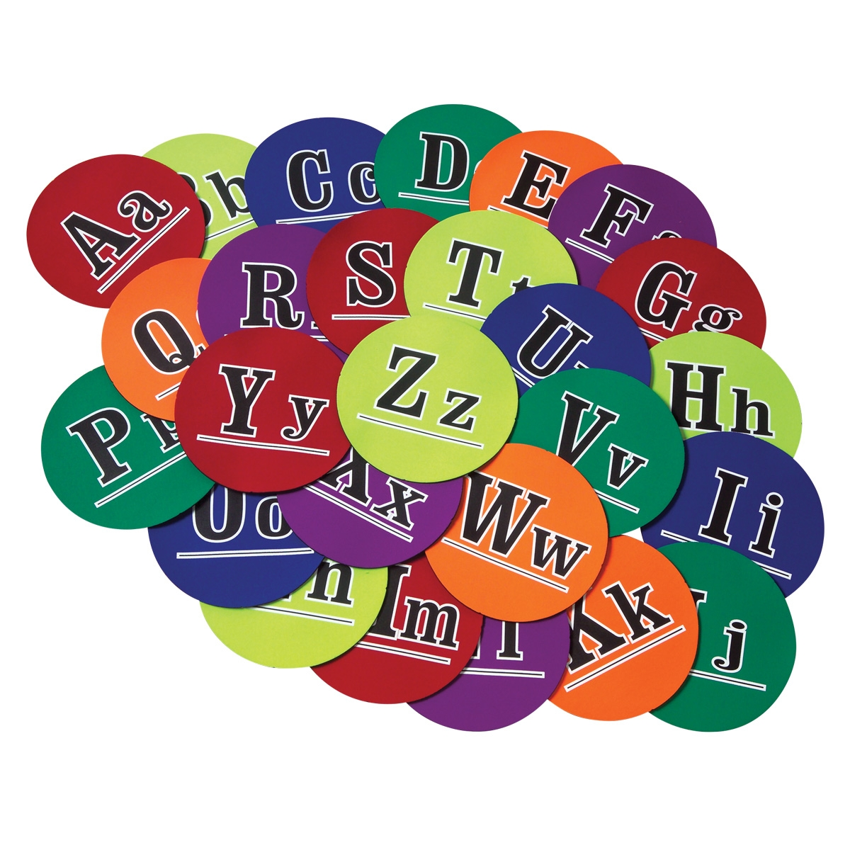 alphabet poly-spot set of 26 markers