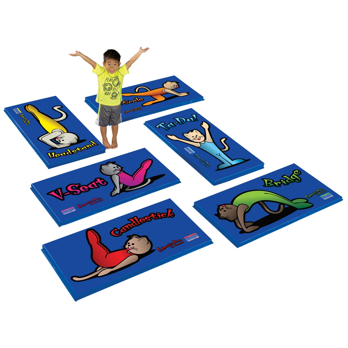 6 body shape Catnastics Gym Mats for tumbling