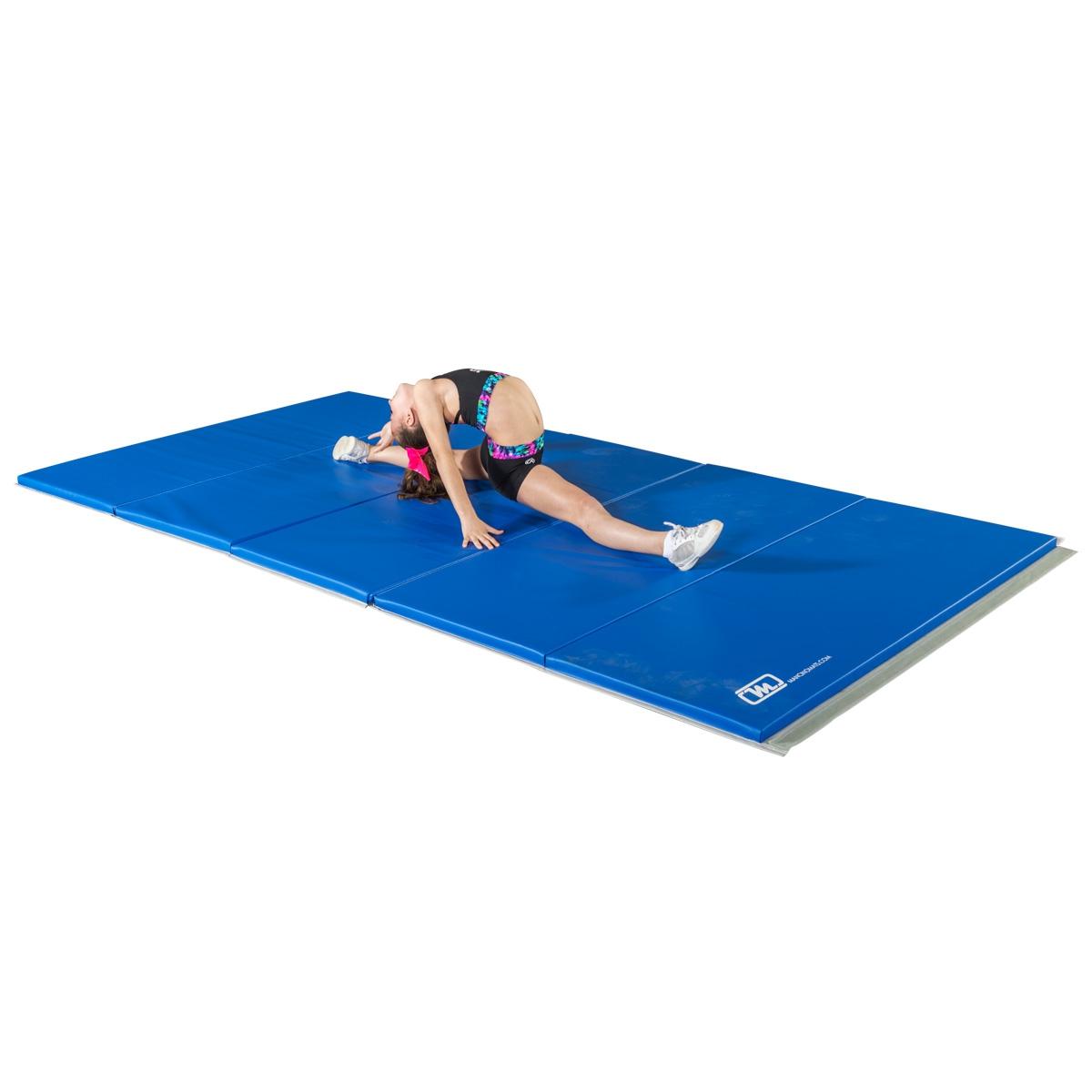 royal blue folding cheer mat