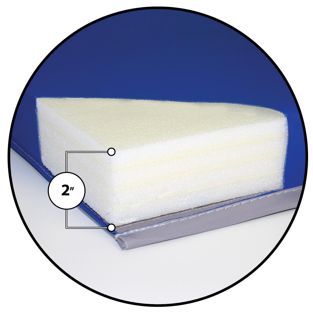 foam cut away of mancino gym mat
