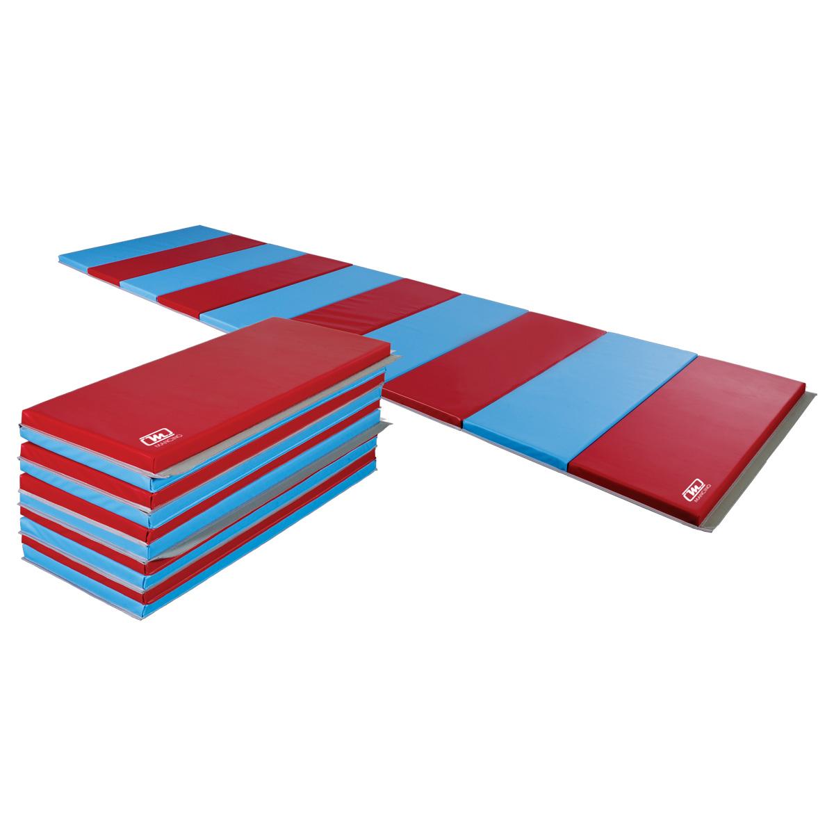 "mancino mats - red and blue 2-3/8"" Educator combo-foam folding panel mat"
