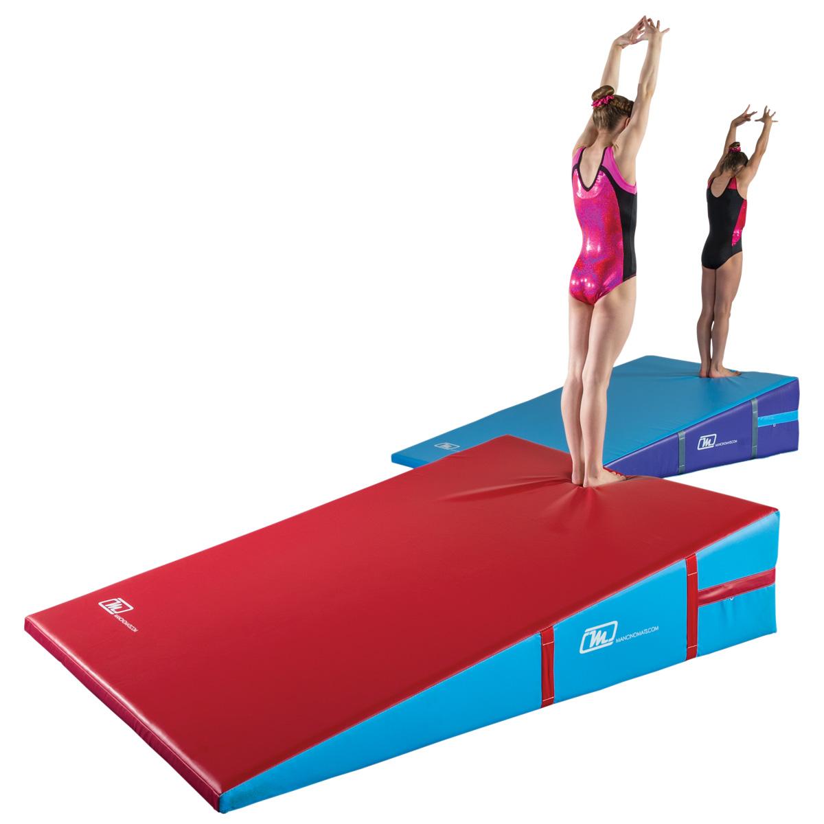 firm top ramp mats incline wedge cheese gymnastics - Mancino Mats