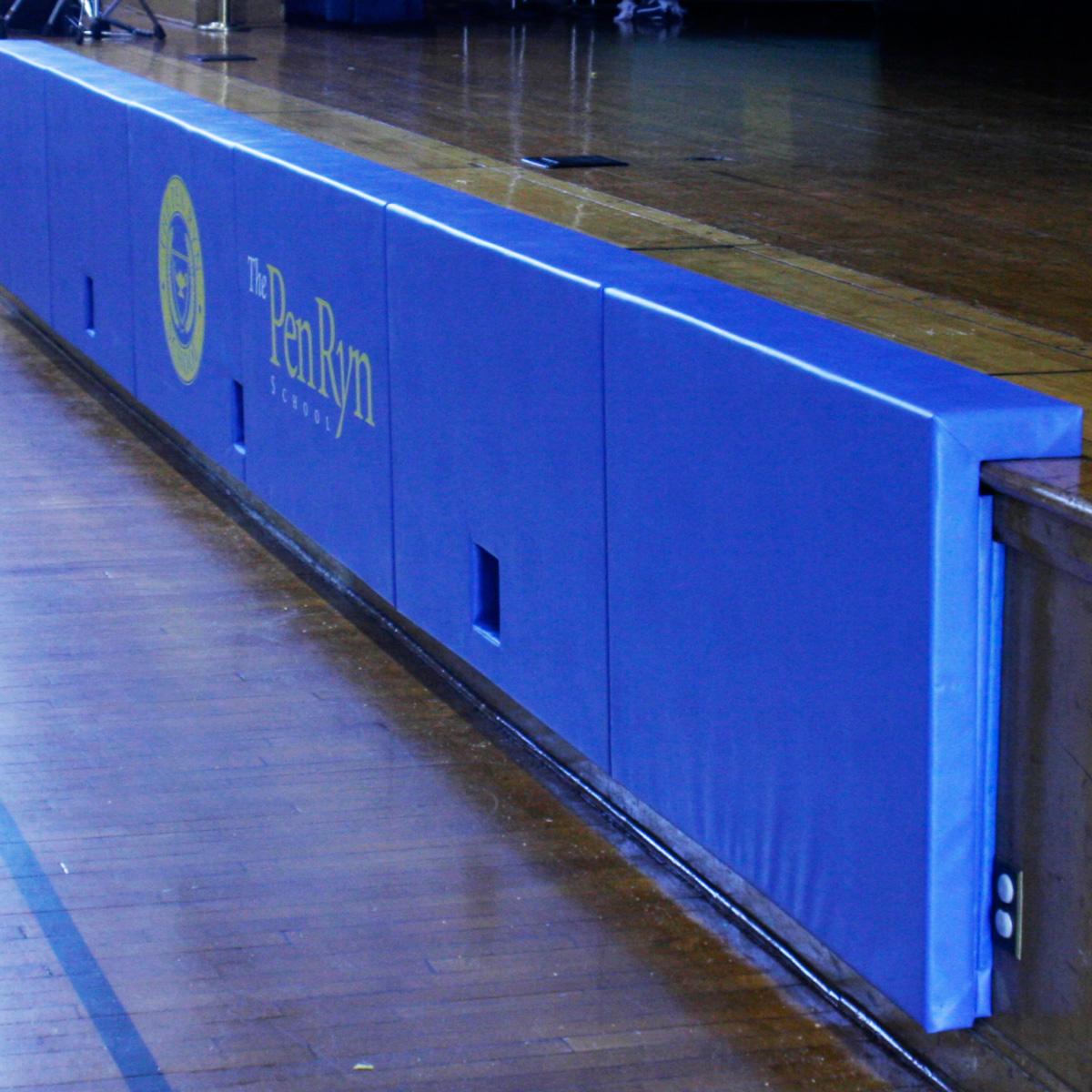 Fixed permanent wall padding at Pen Ryn school gym