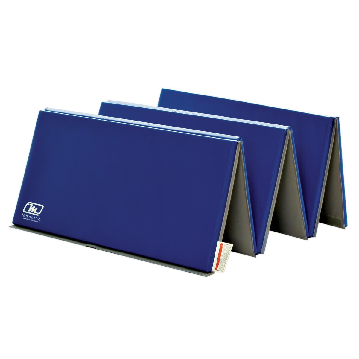 "1-3/8"" cross-linked royal blue folding panel mat"