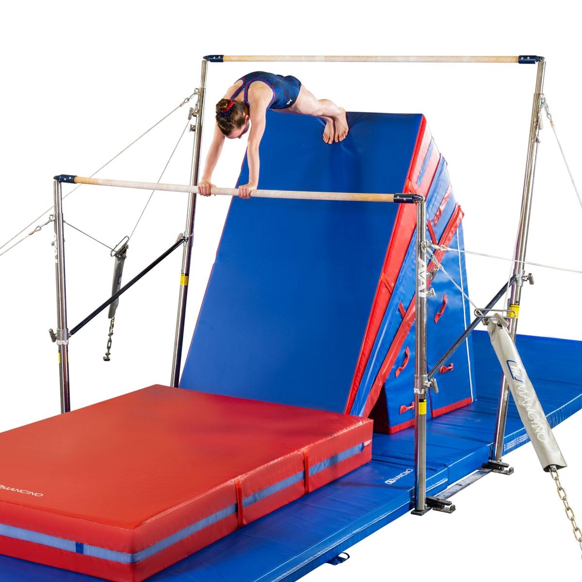 mancino big hill uneven bars trainer mats