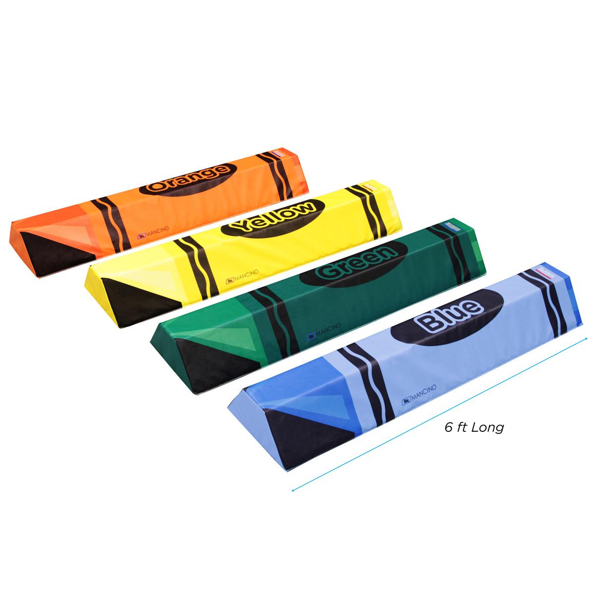 set of 4 6 foot foam training beam mats - mancino mats