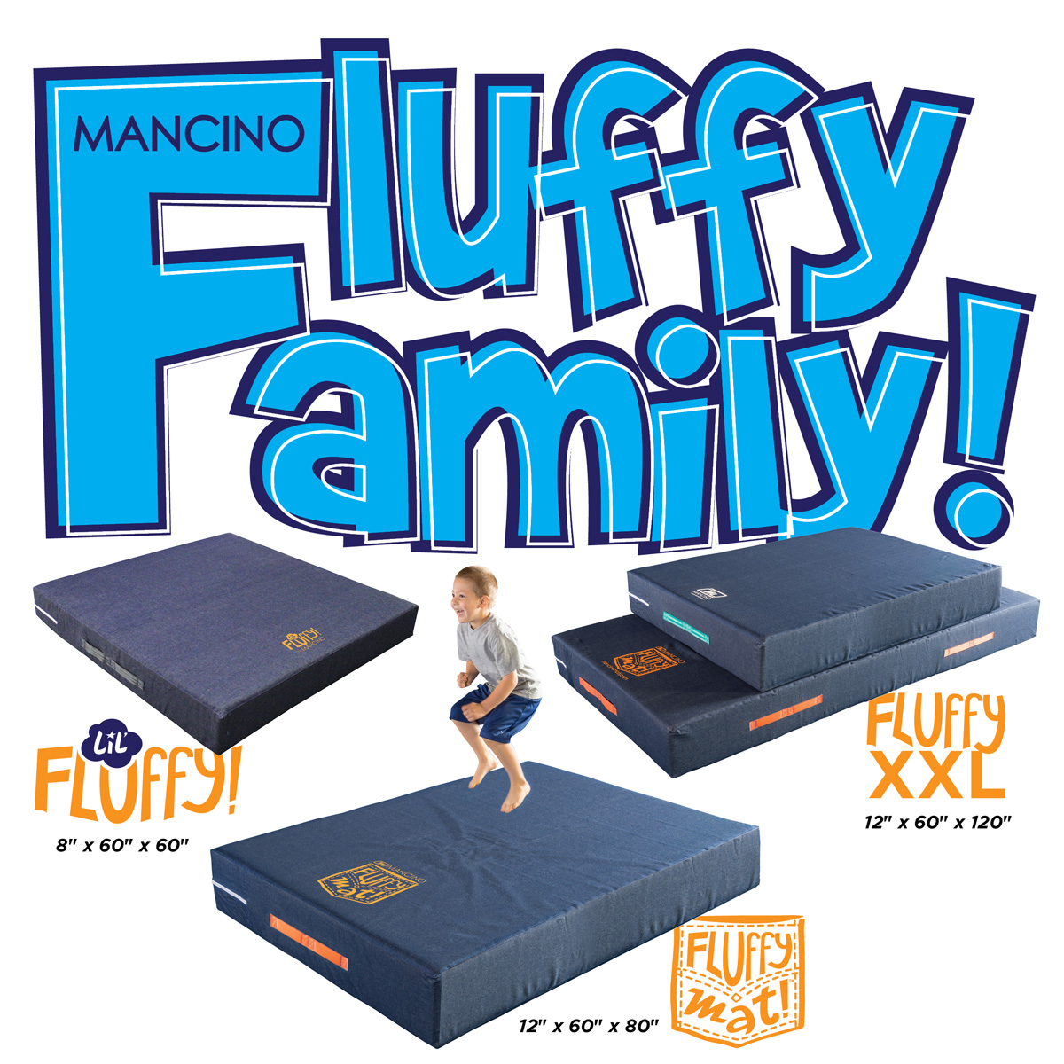 different sizes of mancino fluffy mats