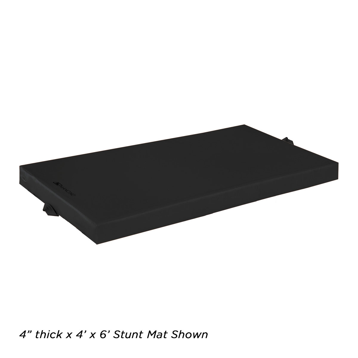 4 inch thick black landing mat for stunts and falls