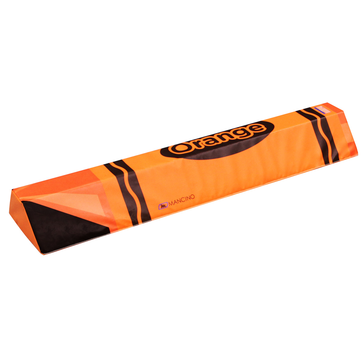 orange crayola crayon low balance beam - mancino mats