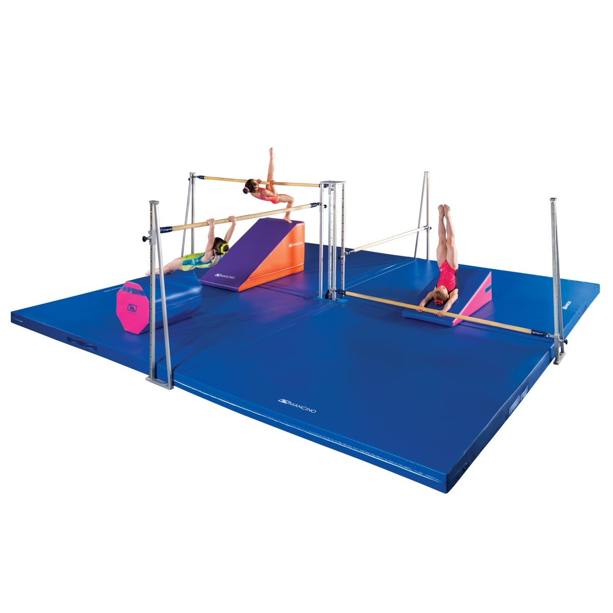 mancino quad bars set with 6' rails and 12cm mats
