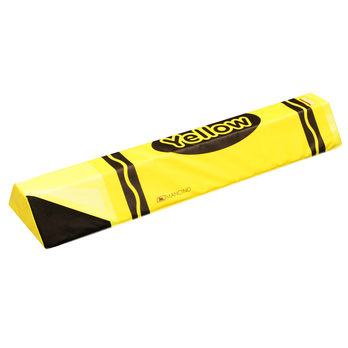 yellow crayon soft foam plank - mancino mats