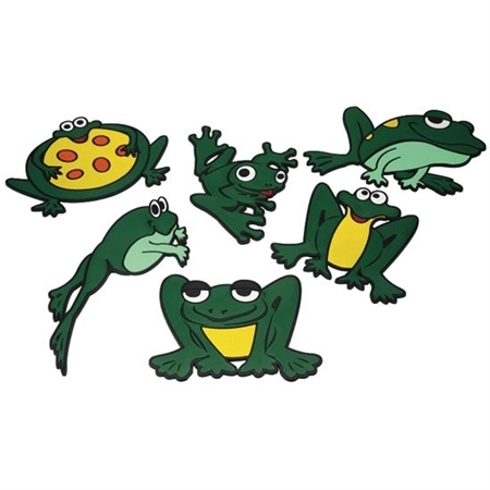 set of 6 poly frog markers set