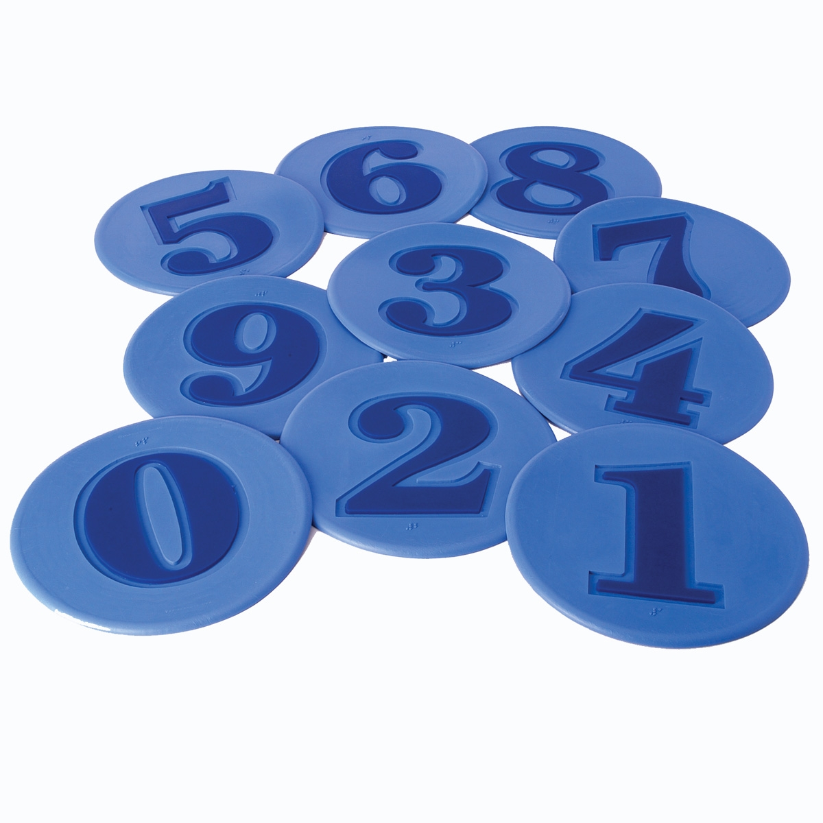 poly spot markers set of numbers in blue color