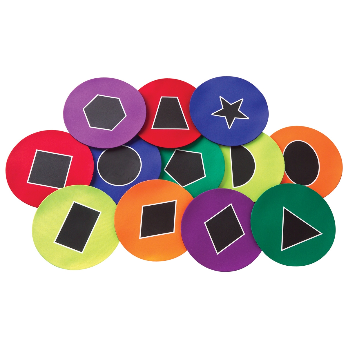 geometric shapes poly spot set