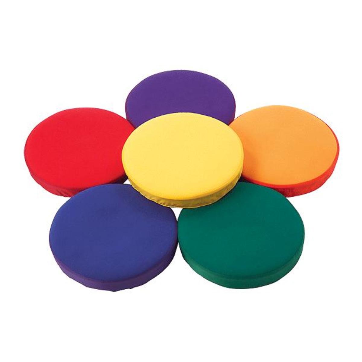 set of 6 colorful step sensory pads