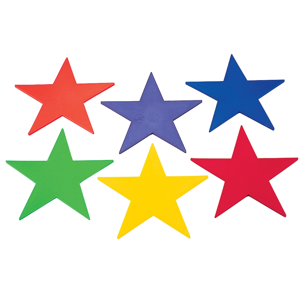 set of 6 poly-vinyl-star markers