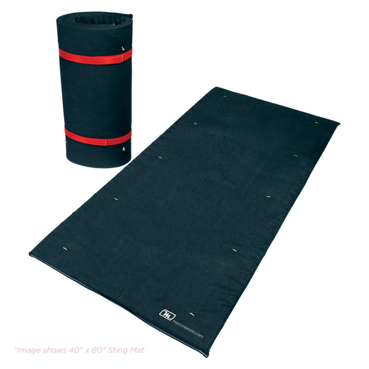 denim covered stunt sting and crash mats