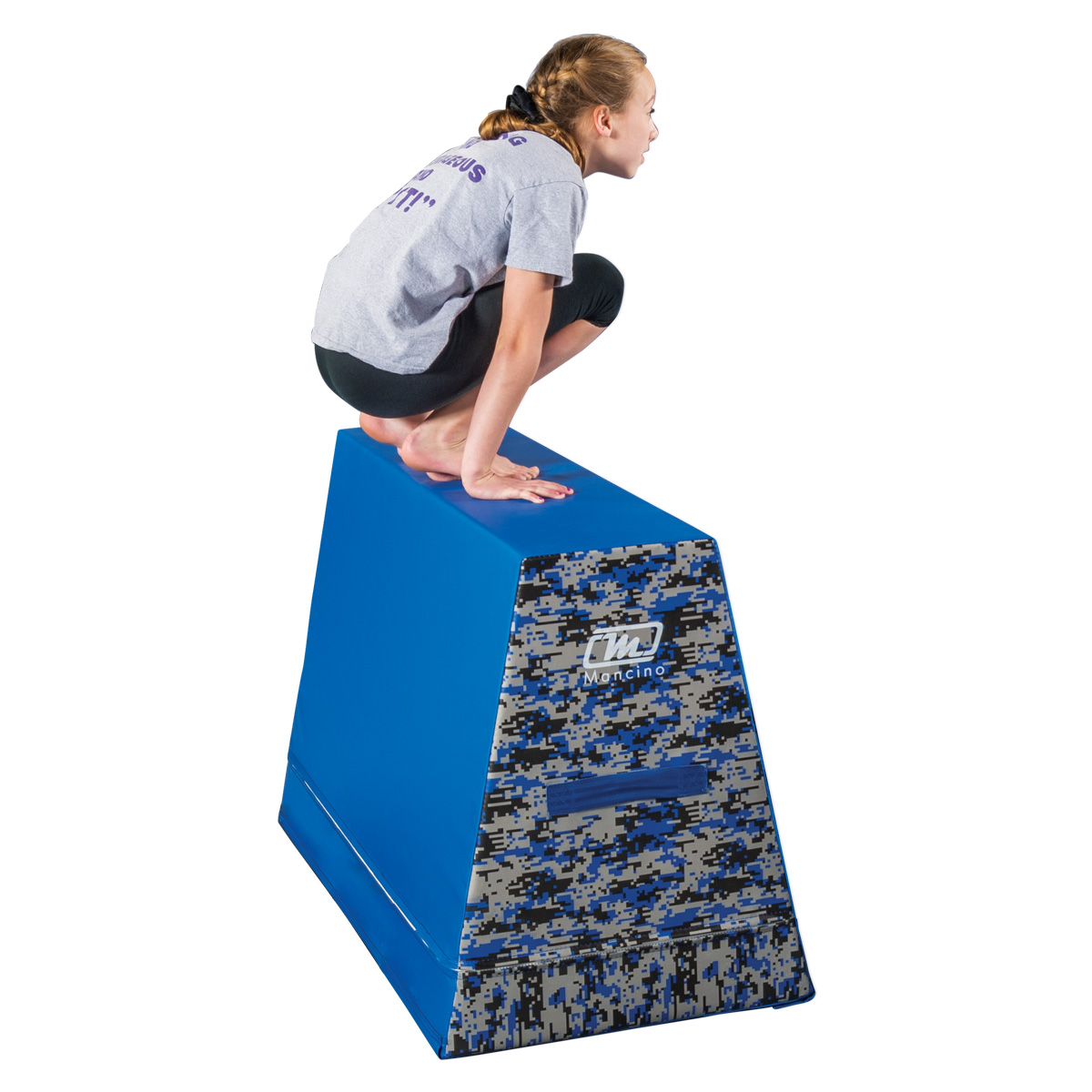 warrior ninja fitness obstacle leaping wall with girl