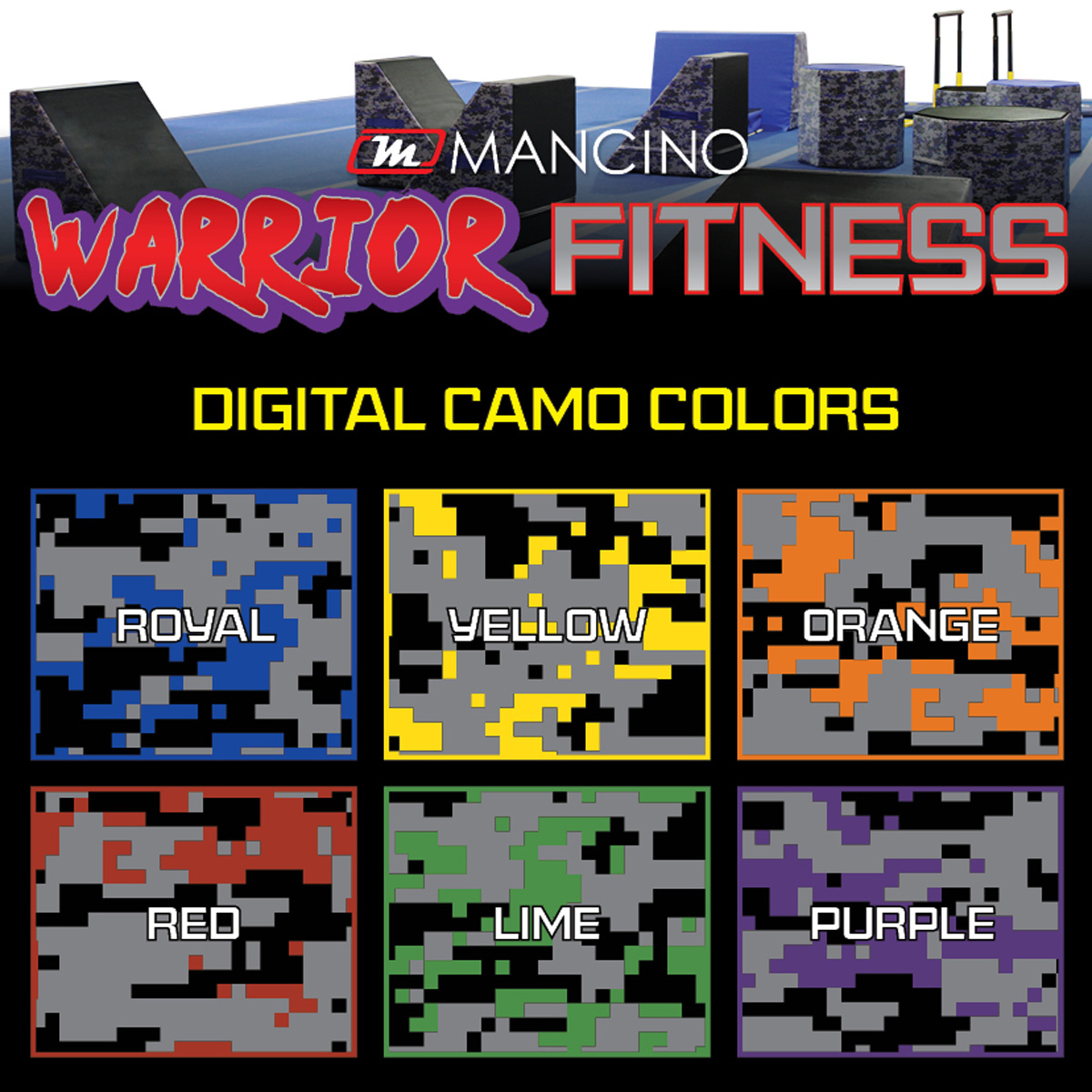 warrior fitness color options