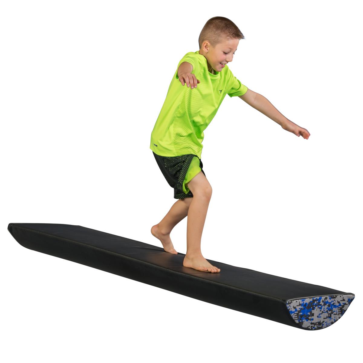 balancing on warrior fitness river log