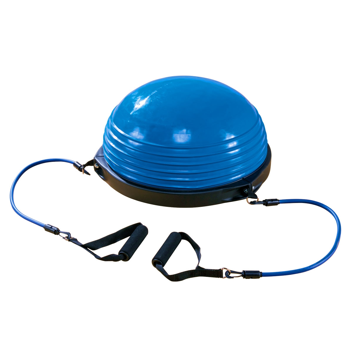 yoga balance dome trainer in blue with arm straps