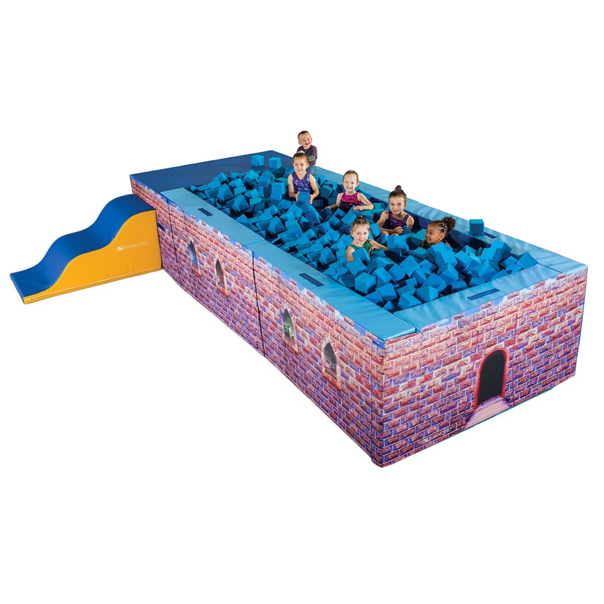 castle foam play foam pit - mancino mats