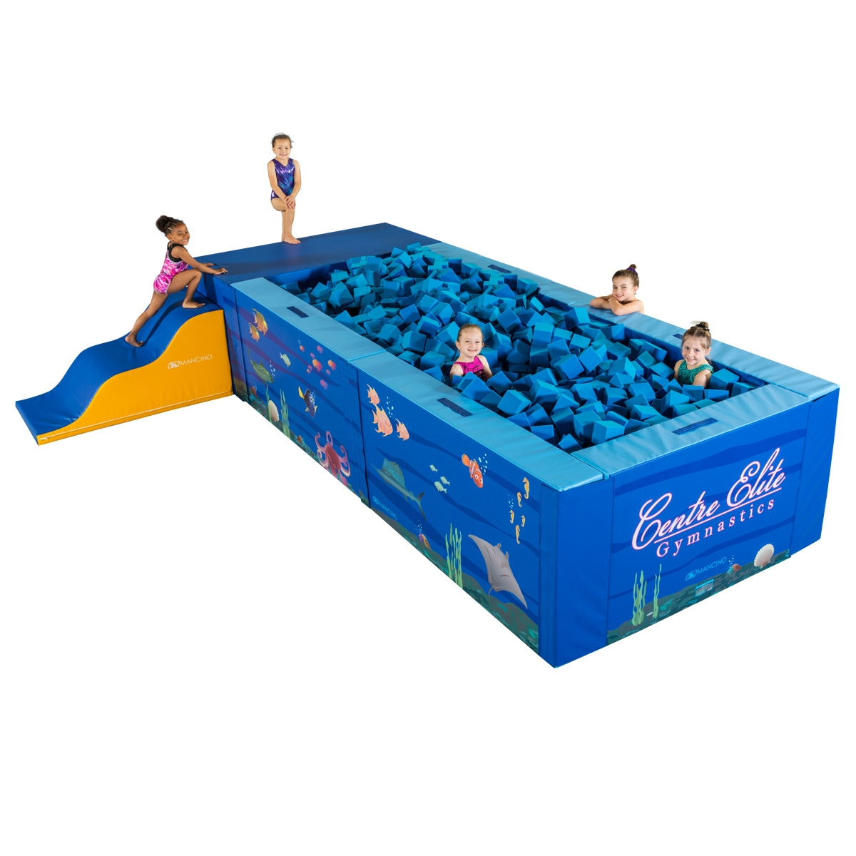 mancino mats preschool foam portable play pit