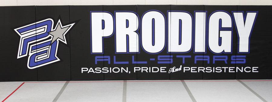 prodigy all-stars cheer gym wall padding